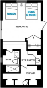 LOWER LEVEL HOTEL-STYLE SUITE FLOORPLAN