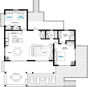 UPPER LEVEL HOUSE FLOORPLAN